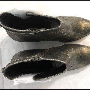 Metallic Qupid Heeled Boots